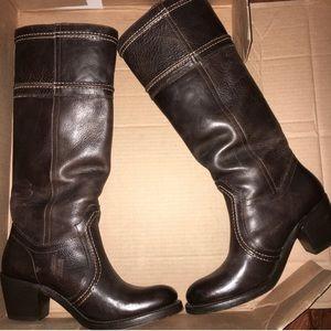 Frye Jane 14L Stitch Boots Dark Brown size 7.5